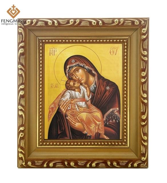 2016 Marcos en línea ortodoxa griega Virgen María y Cristo Jesús ...