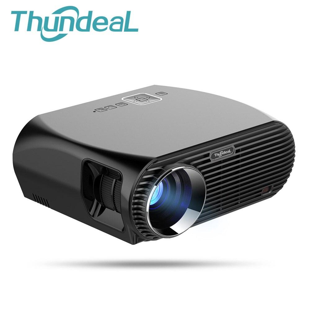 Thundeal gp100 видео проектор 3200 люмен Android 6.0.1 WI-FI Bluetooth Проектор для домашнего кинотеатра 1080 P HD Movie игра проектор