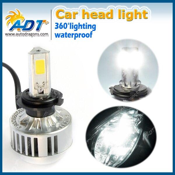 2PCS/lot auto C OB Car <font><b>LED</b></font> Headlight single Beam High Power 35w <font><b>3200Lm</b></font> <font><b>H7</b></font> motocycle Headlight Foglight Waterproof Dustproof