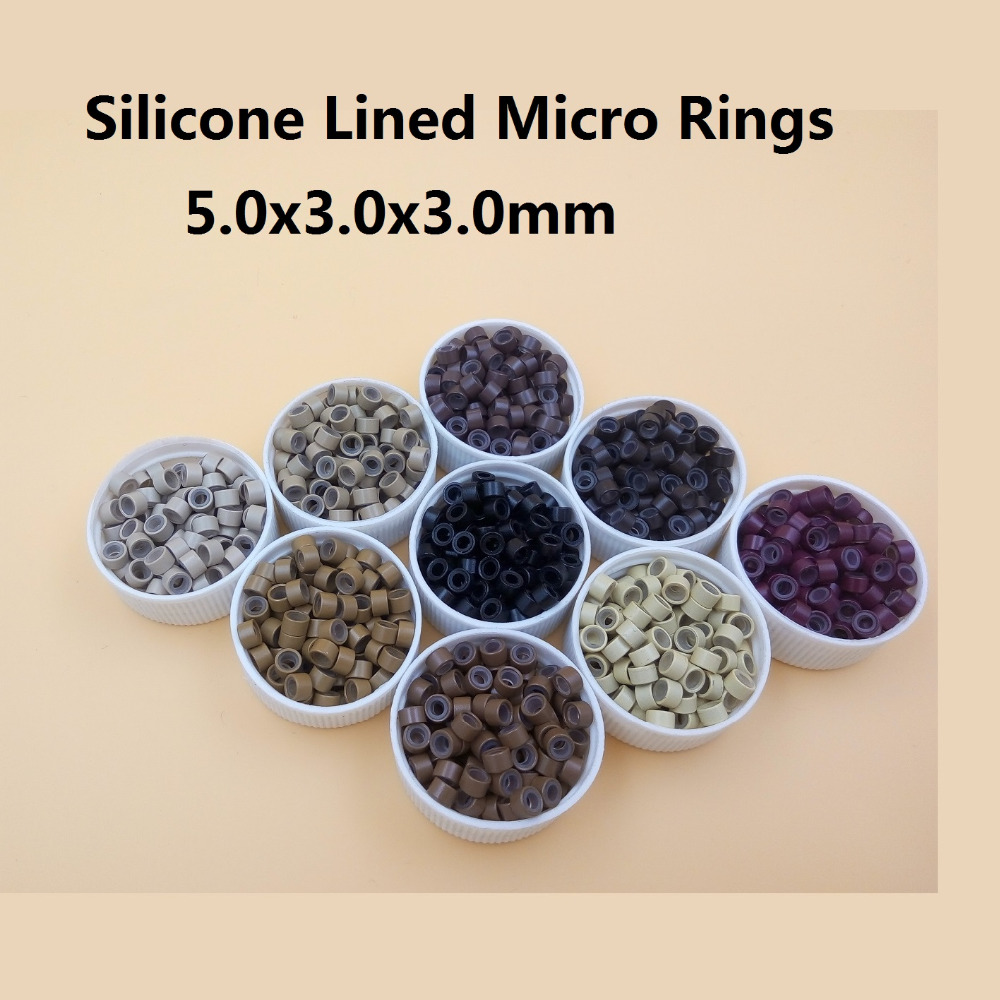 5000pcs hair micro ring Microring microringen Silicone Links Beads tube Feather Hair Extensions