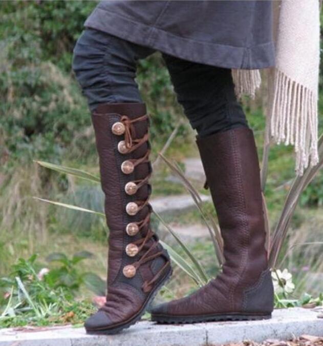 Rodilla Botas 2 Cruz 1 Lujo Sapato Mujer Mujeres Feminino Pu Zapatos Chaussure atado Vintage Cuero Alta Gladiador Botines qfPUtEw