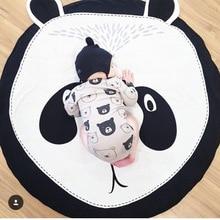 Állatok Puha Pamut Baby Playmats Kids Szőnyeg Szőnyeg Szőnyeg Játék Mat Baby Infant tevékenység Play Mat Tapete Infantil Panda alak