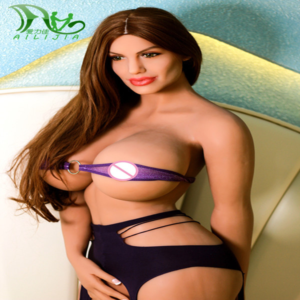 Ailijia 2017 New 176cm lifelike TPE silicone sex dolls With Bone love doll for men realistic vagina and anus