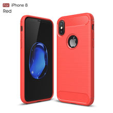 100 pcs Wholesale Personalized Luxury protective tpu cases For iPhone 8 Case silicon soft back shell for iPhone 8 cover back(China)