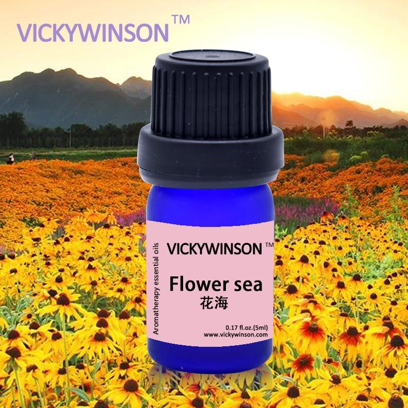 Óleo Essencial Flor óleo Da Flor do mar Beleza Maquiagens VICKYWINSON-Melhorar A imunidade/Eliminar O odor/útil para resfriados/ tosse 5 ml