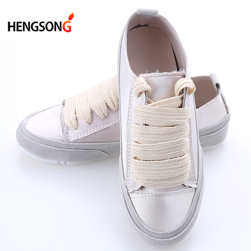 HENGSONG Patchwork Slik Flats For Women Casual Shoes Spain Fashion Satin Shoes Women Shoes Summer Flats Silver Gold TR915886