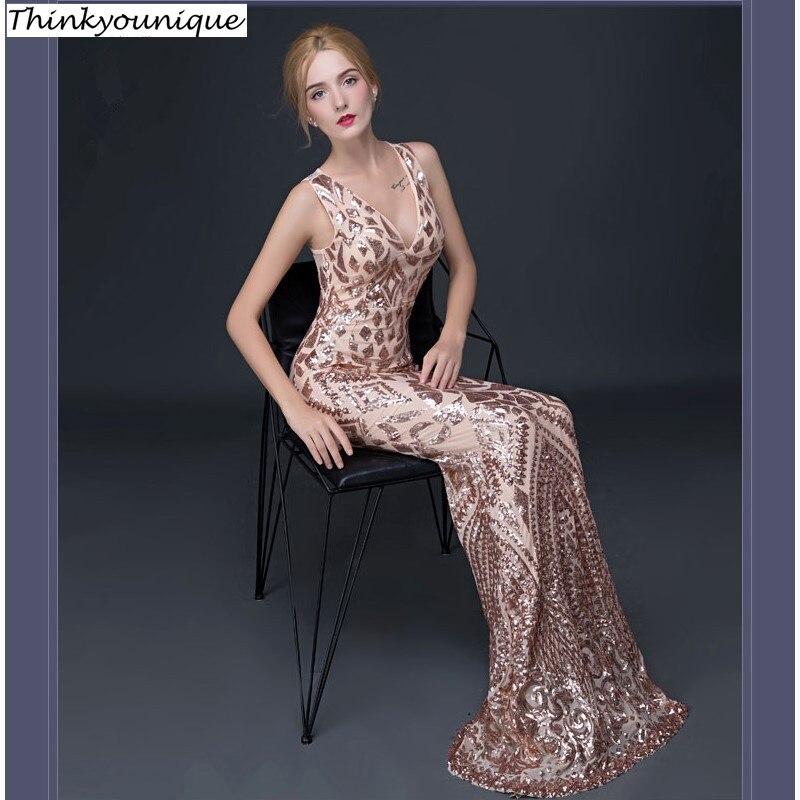 Robes de soirée col en V robes de bal vestidos de novia abendkleider robe de soirée robes de fête robe de mariage TK109
