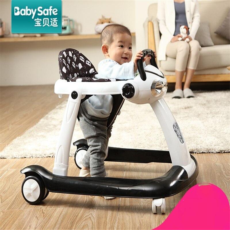 Marcheur de marque claqué multifonctionnel bébé voiture pliant bébé enfant marcheur babysafe