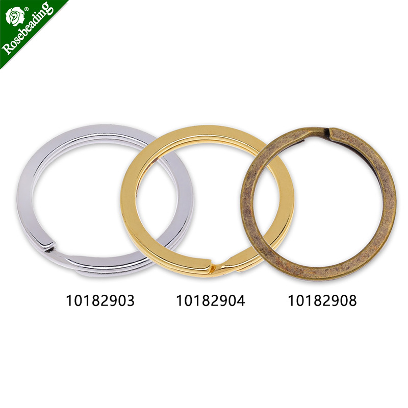 Iron Round Key Rings Split Rings Circle,Flat Key Chain,Car Keys Organization,sold 50pcs/lot