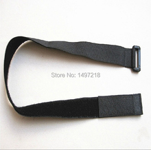 New freeshipping 20pcs/lot 2.5cmx40cm magic tape cable tie nylon strap with Plastic button Hook&Loop magic Tape with buckle