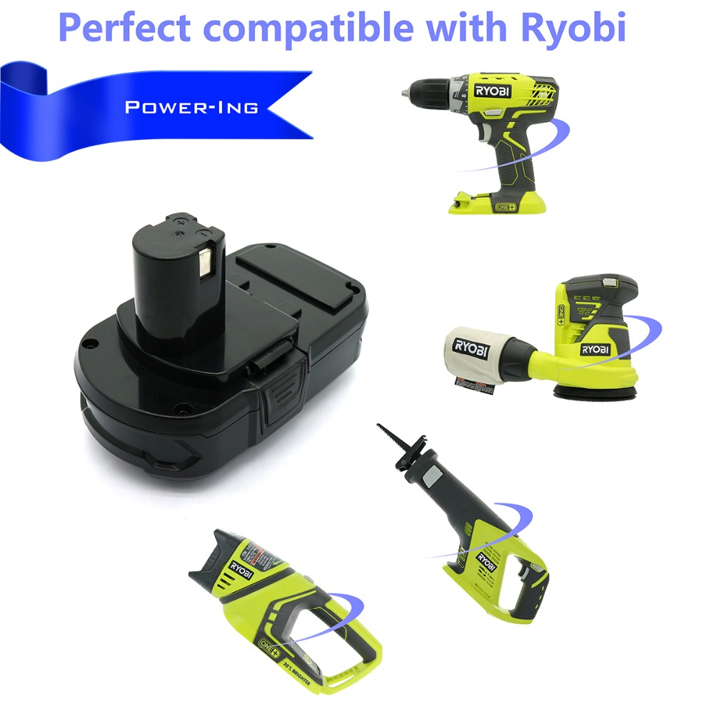US $62 7 |18v 2000mah High quality Lithium Replacement Battery Pack for  Ryobi power tools sets-in Battery Packs from Consumer Electronics on