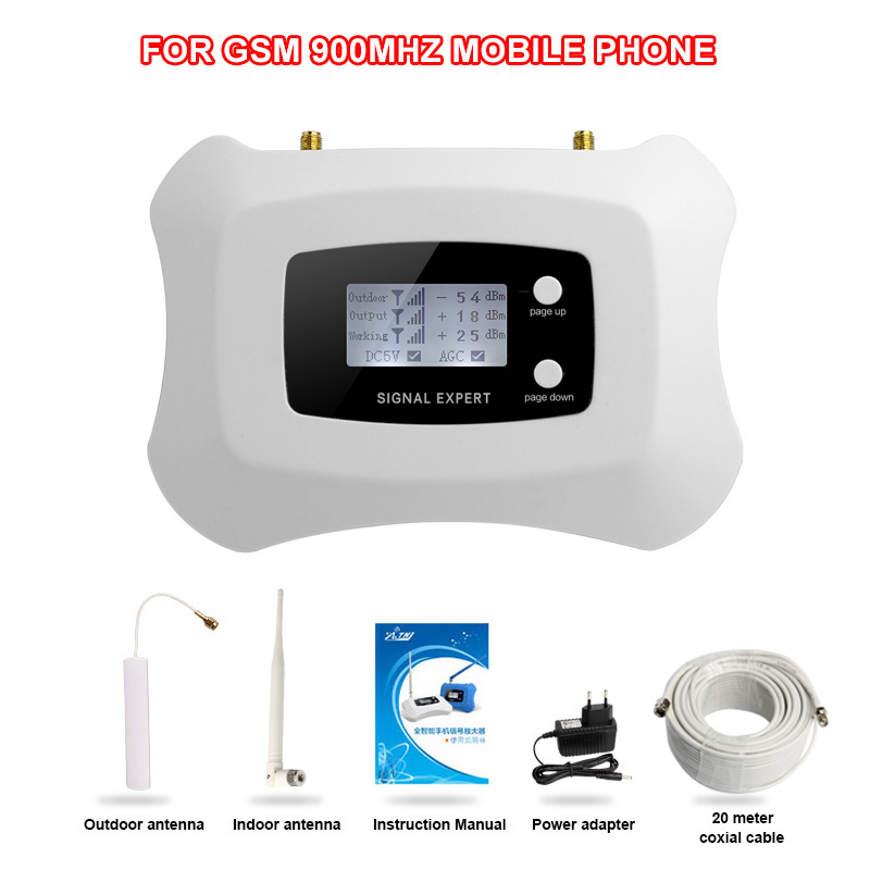 Hot sale! mini gsm900mhz mobile signal booster,GSM 2g cellular signal repeater amplifier kit,coverage 200m2 for home use