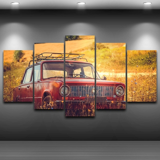 Modern Canvas Wall Art Painting Frame Landscape Modular Pictures 5 ...