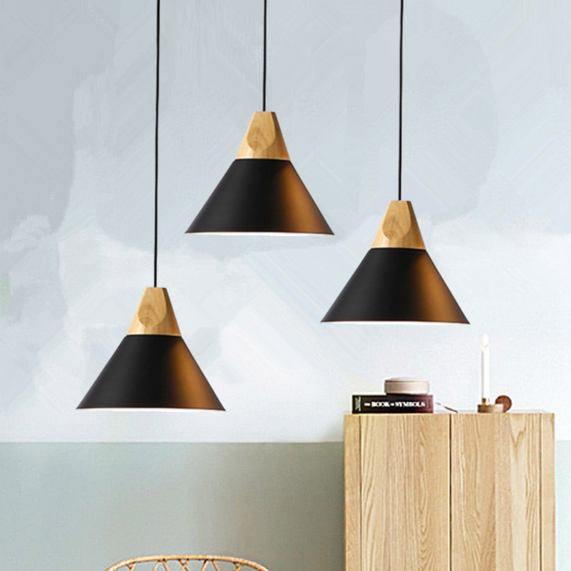 Black Pendant Lights Kitchen Island Ceiling Lamp Bedroom