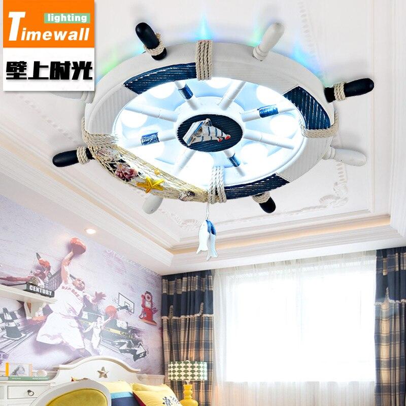 Cm051 Аутентичные пиратский корабль руль с подсветкой Детская комната для мальчиков и девочек спальня потолок Танцы детская люстры
