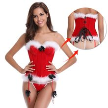 Sexy Women steampunk clothing gothic Plus Size Christmas Corsets 12 boned Bustier Lingerie baby doll gift