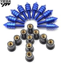 for yamaha SEROW225/250 86-10 TTR250 93-11 WR250F/450F 05-09 honda CRF450R 07-12 85R Motorcycle Windscreen Bolt Screw 10pcs