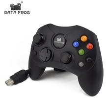 1 Pcs Classic Wired Joypad Controller For Microsoft Original Xbox Controller For XBOX Gamepad Retro Joystick Controle Black