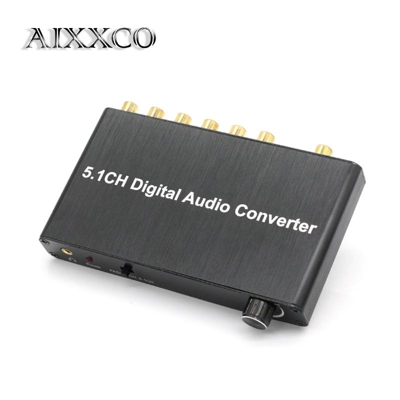 AIXXCO 5.1 decoder DTS/AC3 Dolby decodifica SPDIF ingresso a 5.1-channel digital audio converter