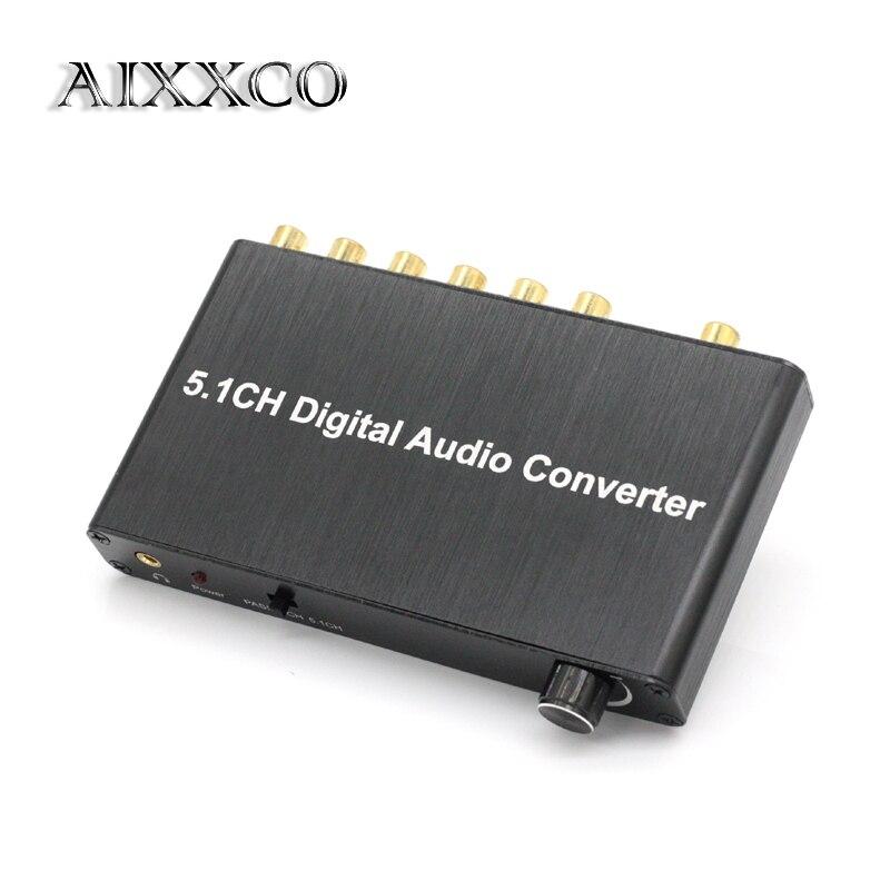 AIXXCO 5.1 dekoder DTS/AC3 Dolby çözme SPDIF girişi 5.1-kanal dijital ses dönüştürücü