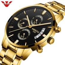 NIBOSI relojes para hombre, de cuarzo, deportivo, resistente al agua, marca de primera calidad, marca de lujo, militar, Masculino