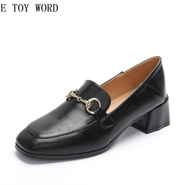38eb6541721 ... sale the new spring and summer 2018 single women flat shoes loafers  buckles british coach womens