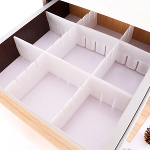 2Pcs Plastic DIY Grid Drawer Separator Divider Household Necessities Underwear Sock Storage Organizer Divider (Color: White)