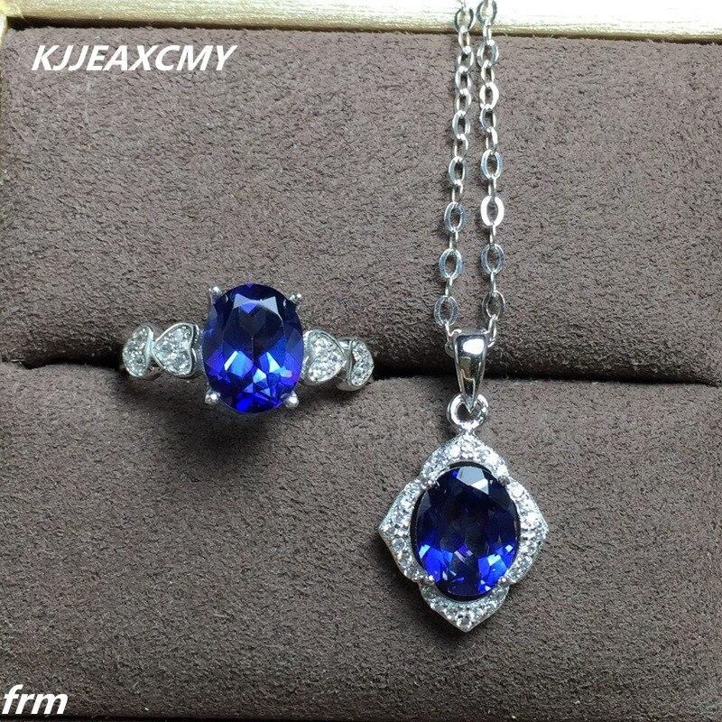 KJJEAXCMY beaux bijoux Tanzanite topaze femmes modèles nouveau chaud en gros chaîne live mouth 925 argent Sterling Choi Po
