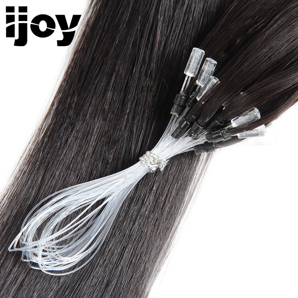 IJOY Boucle Micro Anneau Remy Blond Extensions de Cheveux Humains - Cheveux humains (blanc) - Photo 2