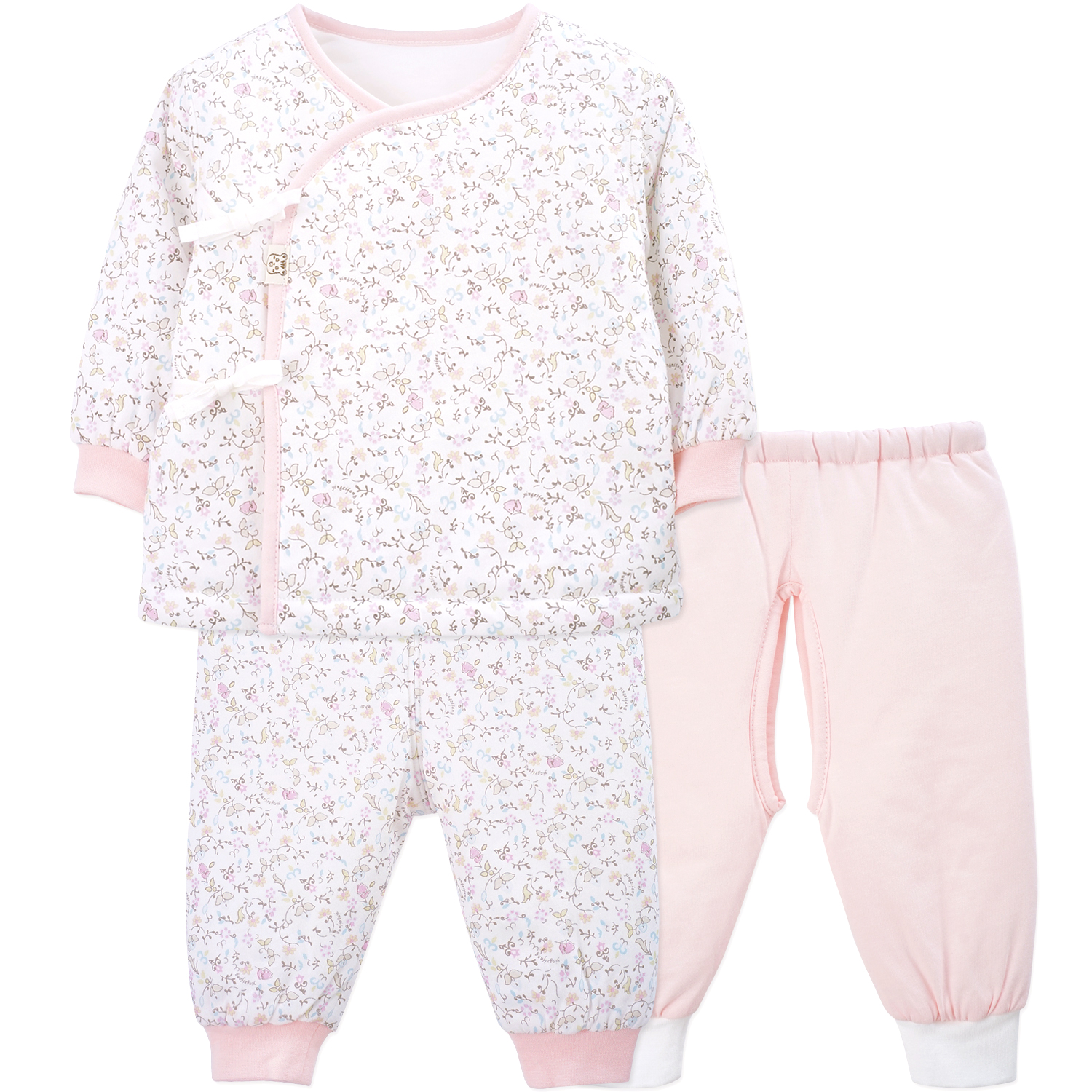 2018 Limited Newborn Clothes Yingzifang Baby Girl Clothing Infant Cotton 3 Pcs Set Clothes Long-sleeved Floral T-shirt+pants newborn baby girl boy clothes toddler bunny baby clothes set long sleeve t shirt pants hat 3 pcs set 2017 new arriavl ff014