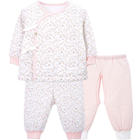 Yingzifang 2017 Baby Girl Clothing Infant Cotton 3 Pcs Clothing Set Baby Clothes Long Sleeved Floral