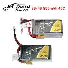 TATTU LiPo Battery 3S 4S 850mah 45C 11 1V XT30 Plug Violence Lithium Li Polymer Battey