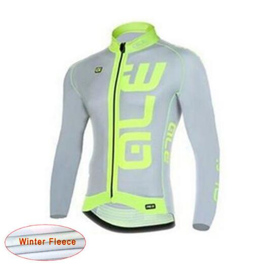 ALE Men Fleece Thermal Winter Cycling Jacket Windproof Bike Bicycle Coat Clothing Long Sleeve Cycling Jerseys ropa ciclismo G16