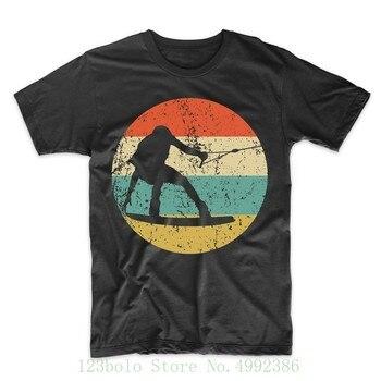 Men's Wakeboarding Shirt - Retro Wakeboarder Icon T Shirt Shirts Homme Novelty Tshirt Men
