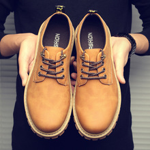 Leather Shoes Men Black Formal Shoes Summer Oxford Shoes For Men Flats Retro Thick Bottom Lace Up Zapatos De Hombre Size 39 45