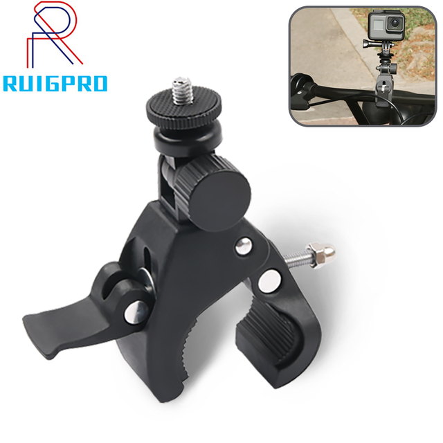 Bicycle Camera Mount 360 Rotation Stand Tripod Adapter For GoPro Cameras Motorcycle Mountain Bike Handlebar Camera Holder