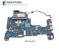 NOKOTION K000103980 Motherboard For Toshiba Satellite L670D L675D MAIN BOARD NALAE U01 LA 6053P Socket S1 DDR3 Free CPU