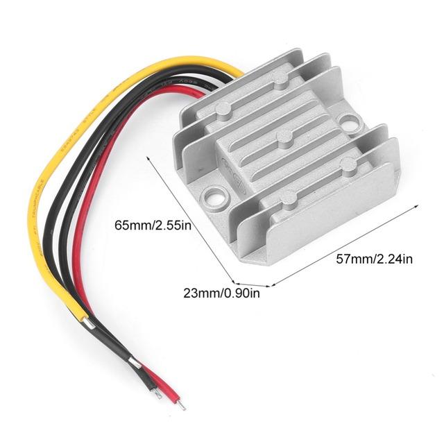 Aluminum DC-DC Converter DC 12V/ 24V to 5V 10A 50W Step Down Buck Voltage Regulator Power Module IP68 Waterproof Stabilizer