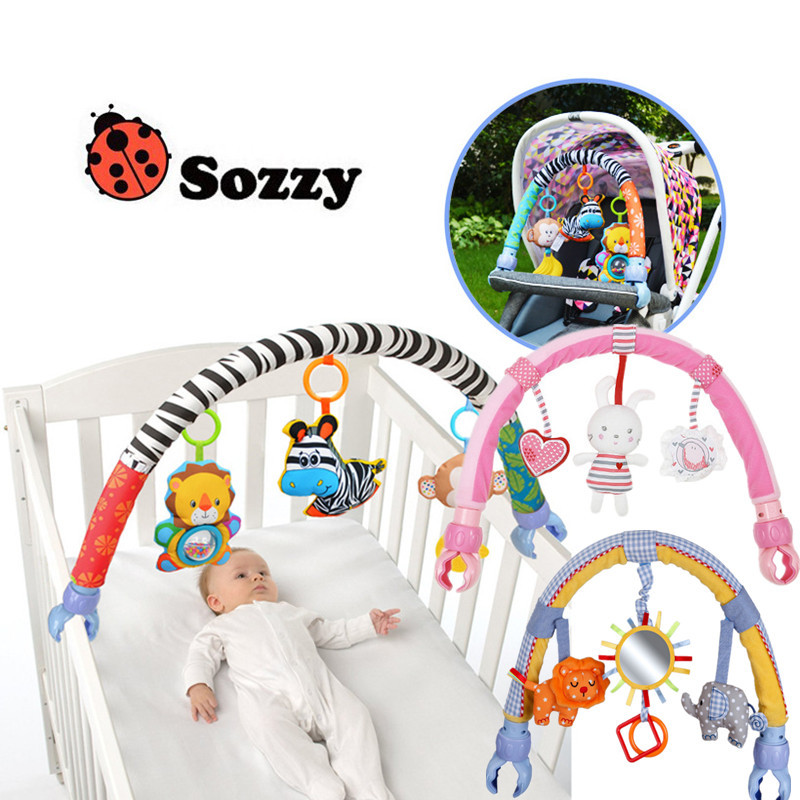 Sozzy Infant Stroller Toys 0-12 Month For Kids Cute Newborn Hanging Baby Rattle Mobile Ring Bed Bell Soft Bed Music Toy shiloh crib mobile infant baby play toys animal bed bell toy mobile cute lovely electric baby music educational toys 60 songs