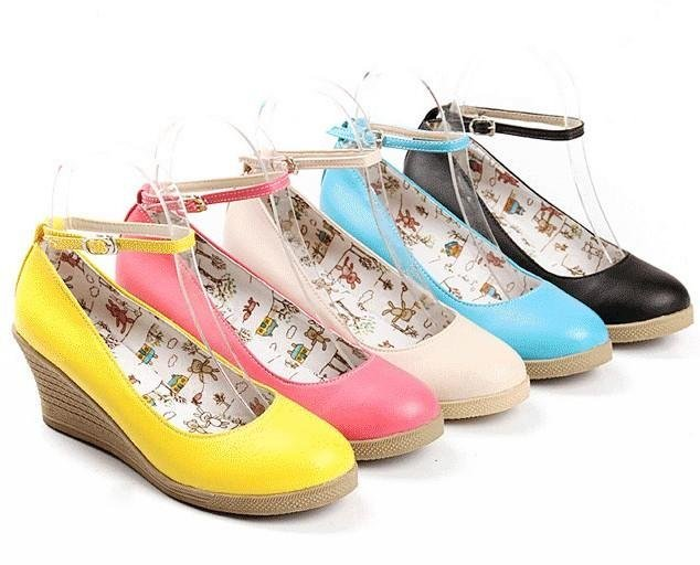 Aliexpress.com : Buy 2015 High quality Lady Wedge shoes Women ...