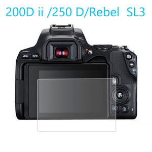 Screen-Protector Camera-Cover Tempered-Glass Mark-Ii Eos 200d 250d/rebel Canon for Sl3/kiss