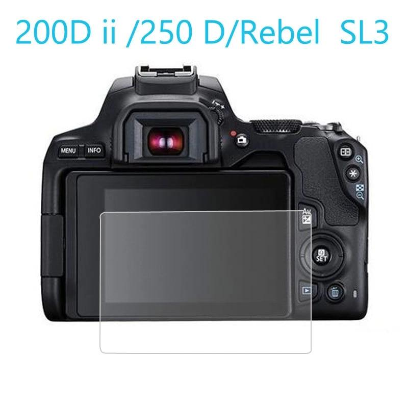 2x protector de pantalla para Canon EOS 250D claro Protector de pantalla de película de protección