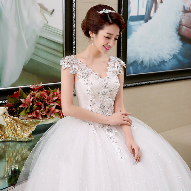 free shipping 2015 new arrival romantic white wedding