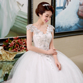 Frete grátis 2015 chegada nova vestido de casamento romântico branco baratos moda Vestidos De Novia do vestido de casamento vestido de casamento da noiva HS141