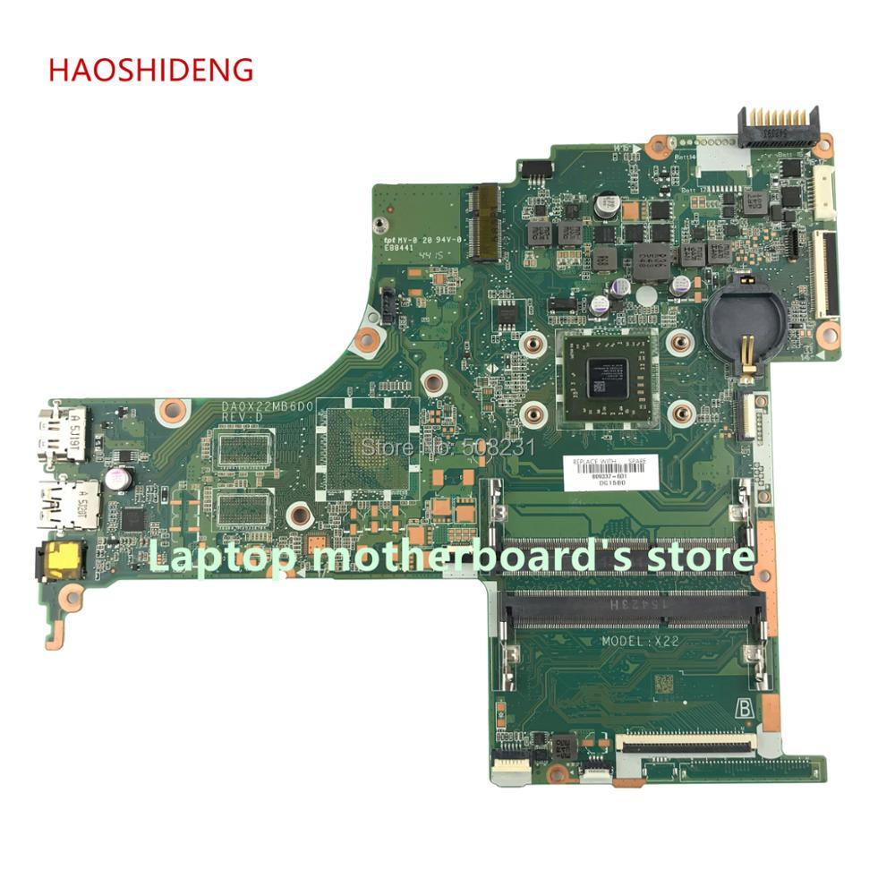 HAOSHIDENG For HP PAVILION NOTEBOOK 15-AB motherboard 809337-601 809337-001 DA0X22MB6D0 X22 with A8-6410 CPU fully Tested 809398 501 809398 601 da0x22mb6d0 x22 for hp pavilion notebook 17 g series motherboard with a6 6310 cpu all fully tested
