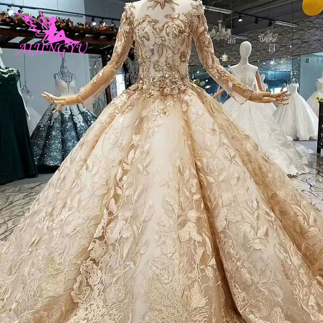 AIJINGYU Exotic Wedding Dresses Gown Lace Real Outdoor Made In China Hot Buy Gown Online Plus Wedding Dress