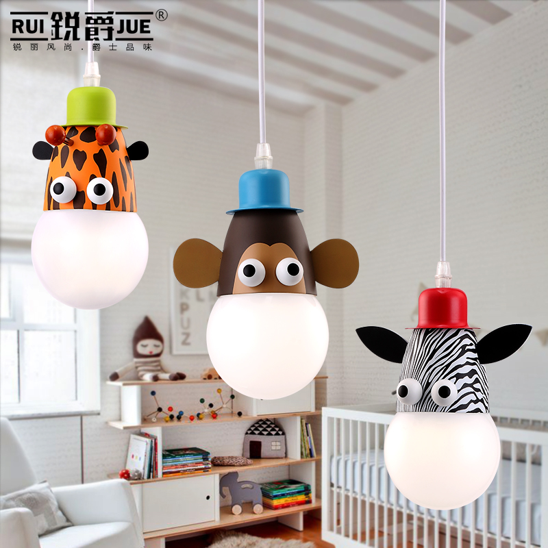 Creative Cartoon Single Head LED Droplight Boy Girl Children Room Bedroom Lamp  princesss room Ceiling Lamp Haning LightCreative Cartoon Single Head LED Droplight Boy Girl Children Room Bedroom Lamp  princesss room Ceiling Lamp Haning Light