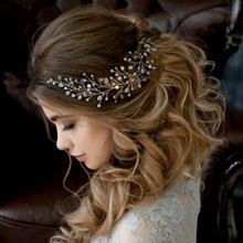 Hot-selling Bridal Chain Hair Belt New Headband Pearl Wedding Accessory Women SQ0163
