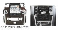 Otojeta Vertical 12.1 Quad Core Android 6.0 2gb ram Car DVD GPS player For nissan patrol 2015 2016 Multimedia stereo headunit