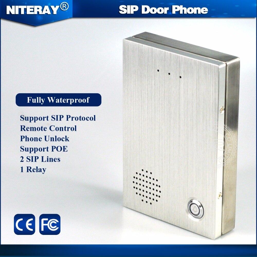 АТС ip-телефон двери SIP домофон с дверной звонок feature и водонепроницаемая конструкция